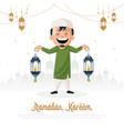 ramadan kareem card design vector image