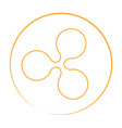 ripple currency logo vector image vector image