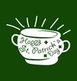 saint patrick day symbol leprechaun treasure vector image