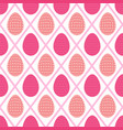 seamless pattern of pink and peach easter eggs and vector image