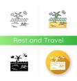 seaside resort icon vector image