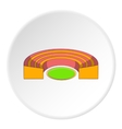 Semicircular stadium icon cartoon style vector image vector image
