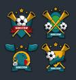 set of soccer emblems vector image