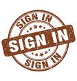 sign in brown grunge round vintage rubber stamp vector image vector image