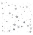 silver glitter falling stars silver sparkle star vector image vector image