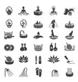 spa and beauty icons set on white background vector image vector image