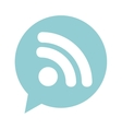 speech bubble social media isolated icon vector image vector image