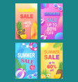 summer sale off price poster vector image vector image
