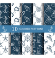 summer seamless pattern set vector image