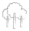 three tree foliage forest park natural vector image
