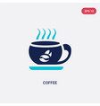 two color coffee icon from hotel concept isolated vector image vector image