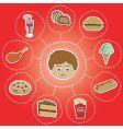 unhealthy food options vector image vector image