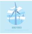 Wind power banner Renewable resources concept vector image vector image