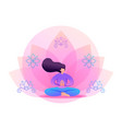 yoga girl in pose in park flat 2d character vector image