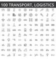 transportation car logistics vehicle public vector image
