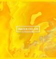 abstract watercolor splash shades of yellow vector image