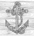 Anchor and rope in the zentangle style vector image vector image
