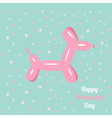 Balloon dog friendship day Flat design vector image