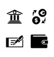 banking simple related icons vector image vector image