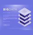 big data element design in vector image vector image