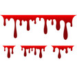 blood drip set drop isolated white vector image