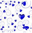 blue love design white background vector image vector image