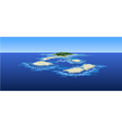 cartoon islands in the ocean the view from the top vector image vector image