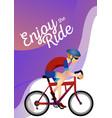 cartoon stylish man riding on cool bmx bike vector image vector image