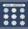 christmas modern set with ilustrations vector image