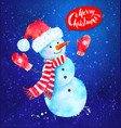 christmas of snowman vector image vector image