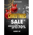 Christmas sale design poster template with shiny vector image vector image