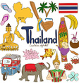 Collection of Thailand icons vector image vector image