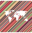 color line world map vector image