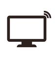 computer monitor symbol vector image vector image