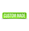custom made green 3d realistic square isolated vector image vector image