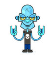 cute zombie in a black t-shirt with a skull vector image