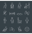 Disabled icons set outline vector image vector image