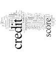 does bad credit affect applications for mortgages vector image vector image