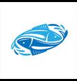 fish logo fresh seafood template design vector image