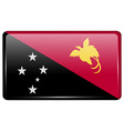 Flags Papua New Guinea in the form of a magnet on vector image