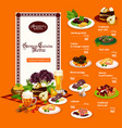 german cuisine dishes and drinks menu vector image vector image