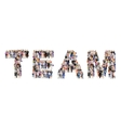 Group of people team poster vector image vector image