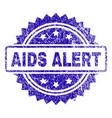 grunge aids alert stamp seal vector image