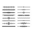 hand drawn doodle style borders elements isolated vector image vector image