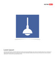 hanging lamp icon - blue photo frame vector image