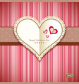 Happy Valentine day greeting card design vector image vector image