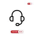 headphone icon headset music audio dj symbol vector image vector image