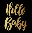 hello balettering phrase on dark background vector image vector image