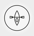 kayak camping icon editable thin line vector image
