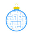 labyrinth christmas tree toy simple flat isolated vector image